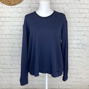 Burberry London wool navy pullover sweater